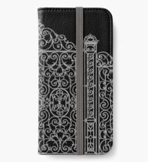 French Wrought Iron Gate | Louis XV Style | Black and Silvery Grey iPhone Wallet/Case/Skin