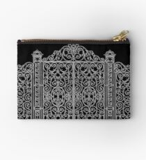 French Wrought Iron Gate | Louis XV Style | Black and Silvery Grey Studio Pouch
