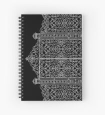 French Wrought Iron Gate | Louis XV Style | Black and Silvery Grey Spiral Notebook