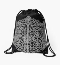 French Wrought Iron Gate | Louis XV Style | Black and Silvery Grey Drawstring Bag