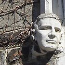 Lehigh University Face Statue  by clizzio