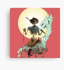The Bone Ranger's Comin' Canvas Print