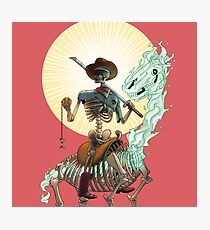 The Bone Ranger's Comin' Photographic Print