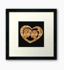 Hearts, Roses, and a Kiss Framed Print