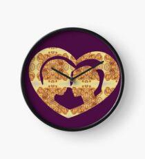 Hearts, Roses, and a Kiss Clock