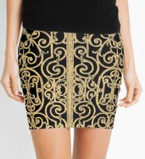 French Wrought Iron Gate | Louis XV Style | Black and Gold Mini Skirt
