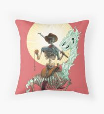 The Bone Ranger's Comin' Throw Pillow