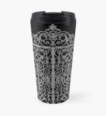 French Wrought Iron Gate | Louis XV Style | Black and Silvery Grey Travel Mug