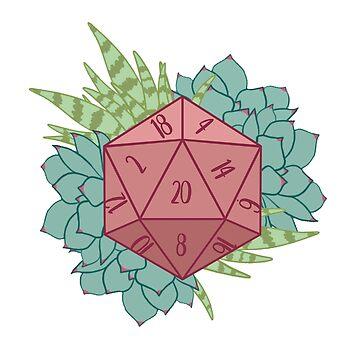 D20 - Succulent Design by ArtBYMaxJHuston