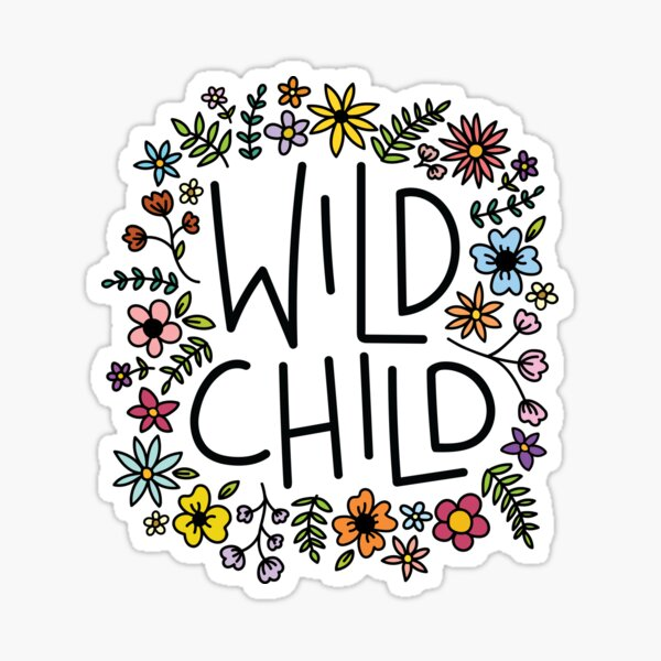 wild child flower design Sticker