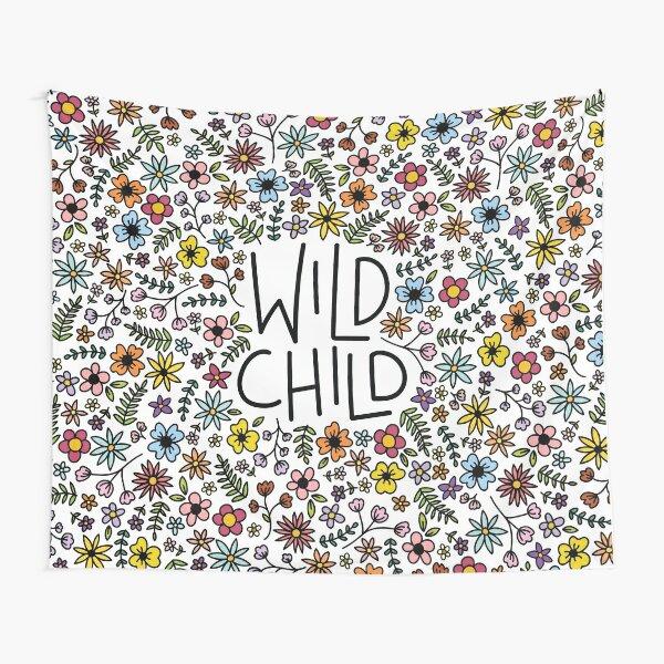 wild child flower design Tapestry