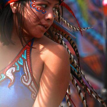 Aztec Dancer in the Light by lenzart