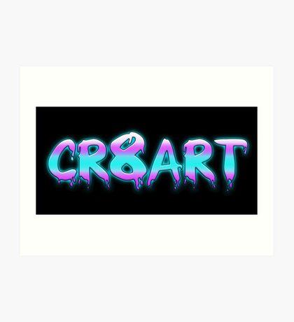 Create Art! - Pink, Blue on Black Art Print