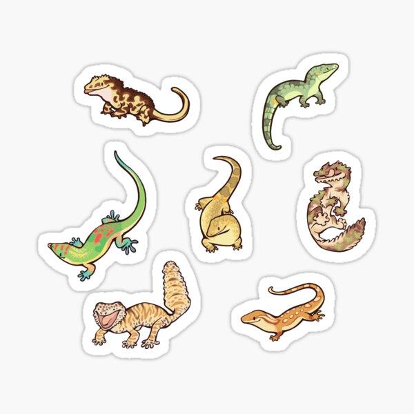 Gecko sticker batch the second Sticker