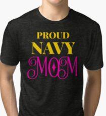 b2645b3d0ebd Proud Navy Mom Shirt US Military Family Gift T-Shirt Tri-blend T-