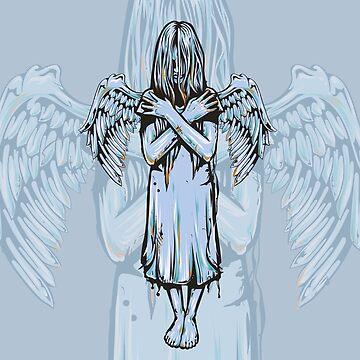 Angel Girl Earns Her Wings by machmigo