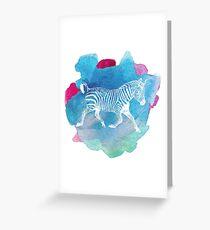 Color Spot Safari Zebra Love Greeting Card