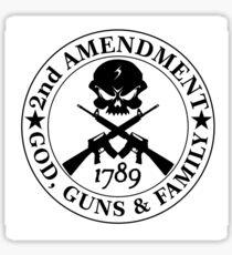 2nd amendment god gun family Sticker