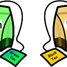 Tea Caddy Labels by Ron Marton