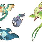 «Wyverns stickers» de Colordrilos