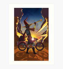 Wilco the Biker Wizard Art Print