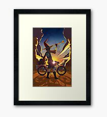 Wilco the Biker Wizard Framed Print