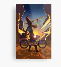 Wilco the Biker Wizard Metal Print
