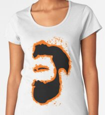 Man vector orange and black silhouette Women's Premium T-Shirt