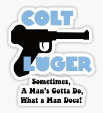 Colt Luger - F is for Family Retro Sticker