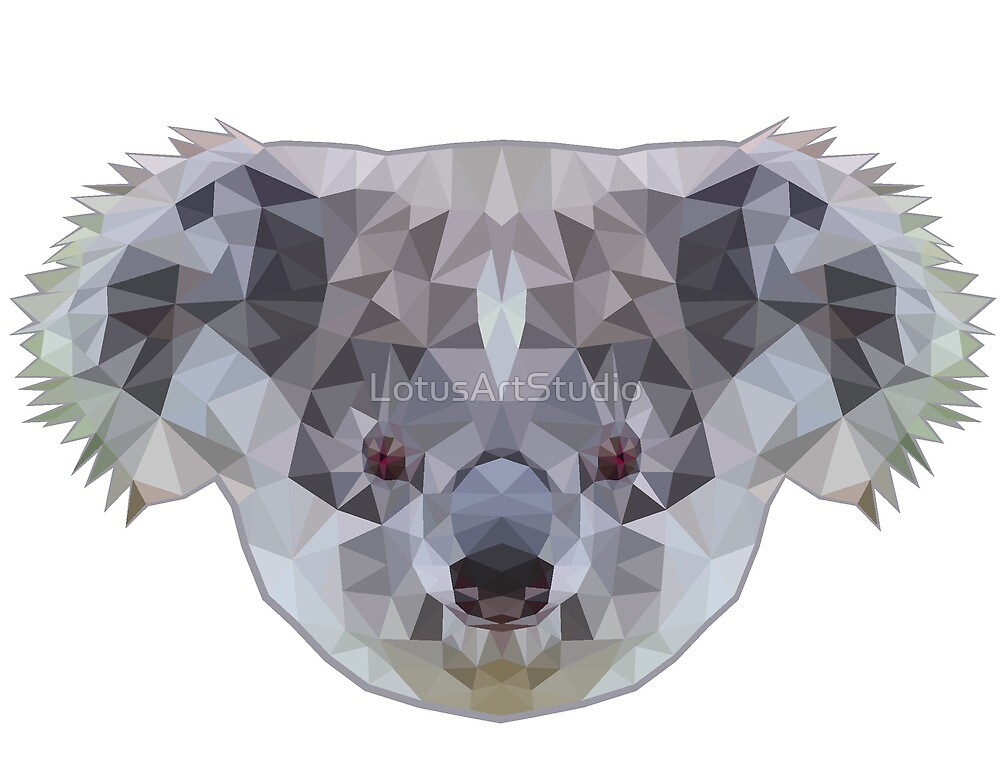Koala poly by LotusArtStudio