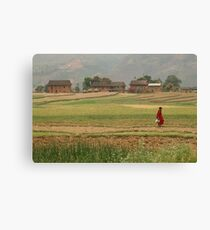 Village Farm Life Canvas Print