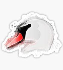 Swan animal glowing Art Sticker