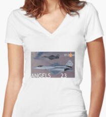 PHOTO201B Women's Fitted V-Neck T-Shirt