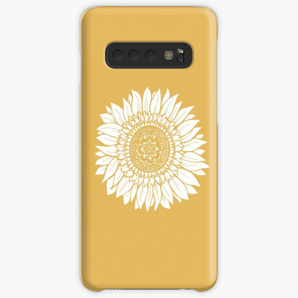 Yellow Flower Drawing Tapestry Case & Skin for Samsung Galaxy