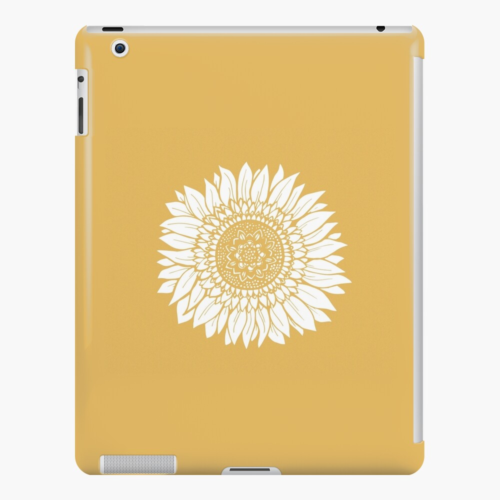 Yellow Flower Drawing Tapestry iPad Case & Skin