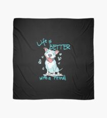 Funny Pitbull Mom Gift Life is Better With a Pitbull Scarf