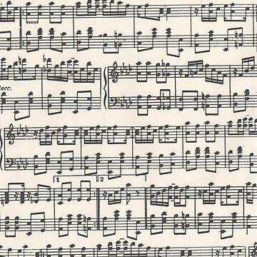 Sheet Music Pattern by noellelucia