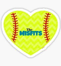 Misfits Softball Sticker
