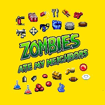 Zombies Ate My Neighbors SNES  /  Weapons by danteartist