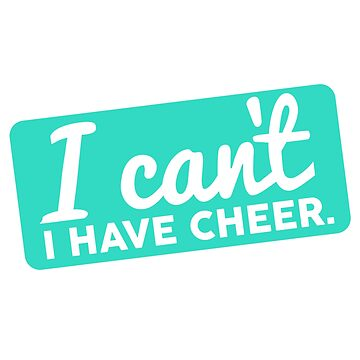 I can't. I have cheer.  by Designs111
