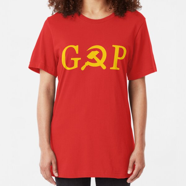 GOP T-Shirt - Grand Old Party - Republican - Russian - USSR -CCCP Slim Fit T-Shirt