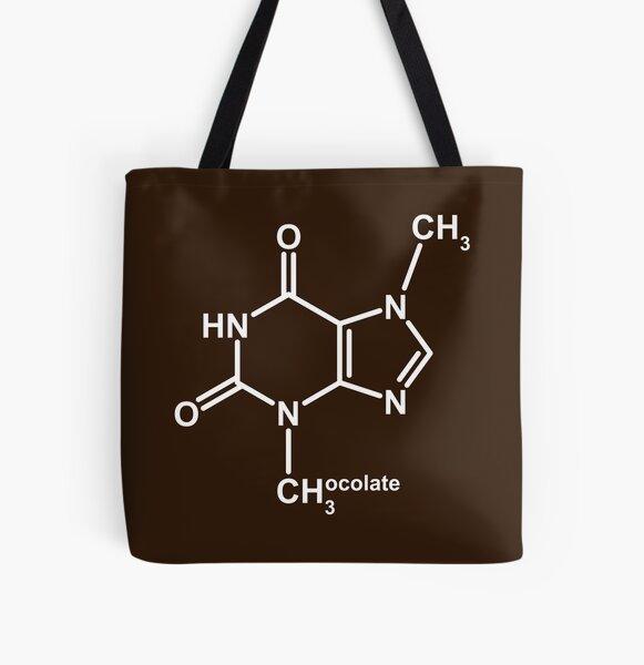 Theobromine Molecule - Chocolate All Over Print Tote Bag