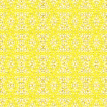 Yellow, ethnic ornament  by fuzzyfox