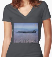 PHOTO101C Women's Fitted V-Neck T-Shirt