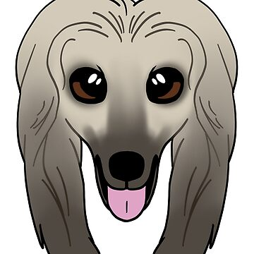 Cream Afghan Hound by sadsurplus