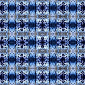 snowflake in blue 8 pattern by DlmtleArt