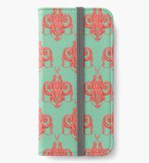 Sea foam green Damask Goddess Zee iPhone Wallet/Case/Skin