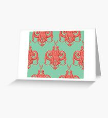 Sea foam green Damask Goddess Zee Greeting Card