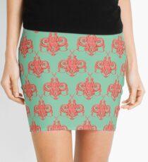 Sea foam green Damask Goddess Zee Mini Skirt