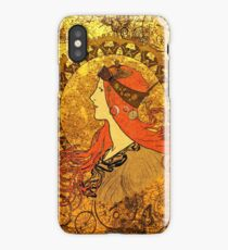Steampunk Zodiac (Mucha Homage) iPhone Case